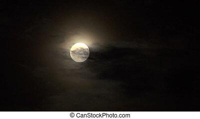 03, closeup, nuage, lune