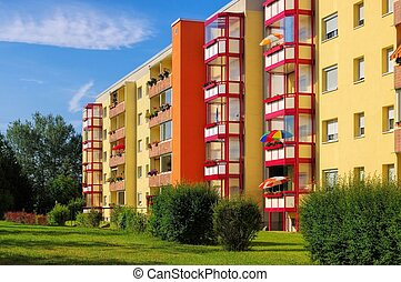 03, wohngebiet, apartamento, blocos, grossraeschen, -