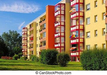03, wohngebiet, apartamento, bloques, grossraeschen, -