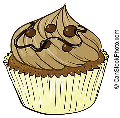 035 - Illustration of an isolated cupcake