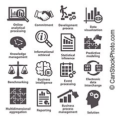 04., gestion, business, icons., meute