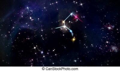 05 Leo Horoscopes space rotation - the zodiac sign forming...