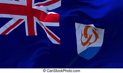 06. Anguilla Flag Waving in Wind Continuous Seamless Loop Background.