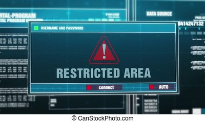 06. Restricted area Warning Notification on Digital Security...