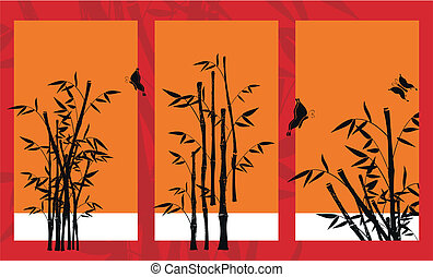 07, achtergrond, bamboe