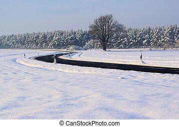 07, estrada, inverno