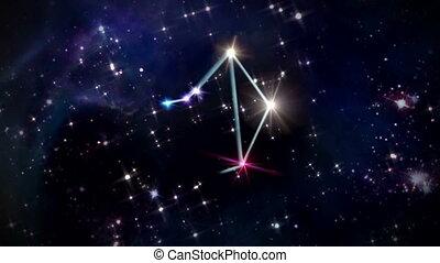 07 Libra Horoscopes space rotation - the zodiac sign forming...