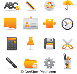 09 Yellow Office Icons