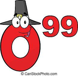 0.99, chapeau, pèlerin, rouges, nombre