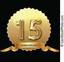 1ö, selo ouro, aniversário