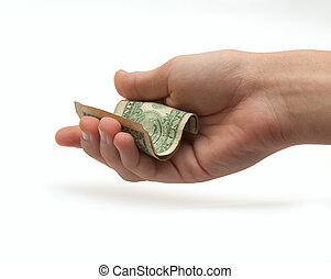1ドル, 手