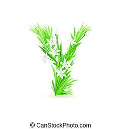 1(人・つ), 手紙, の, 春の花