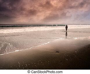 1(人・つ), 歩くこと, 孤独, 人