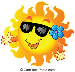 1, été, heureux, soleil