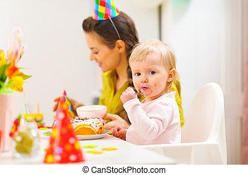1 γενέθλια , εορτασμόs , πάρτυ , με , αίτιο και βρέφος