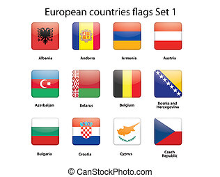 1 , θέτω , σημαίες , ευρωπαϊκός , άκρη γηπέδου