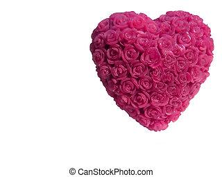 1 , καρδιά , κερί