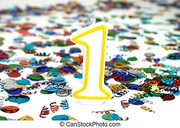 1 , κερί , - , αριθμόs , εορτασμόs