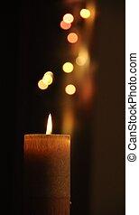1 , κερί , bokeh