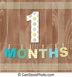 1 , μήνες , κάρτα