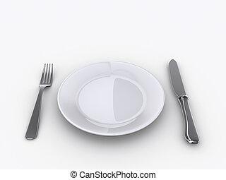 1 , πιάτο
