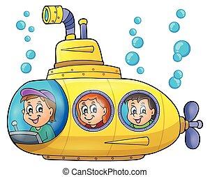 1 , υποβρύχιο , θέμα , εικόνα