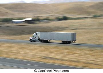 1 , φορτηγό , τρέχει με ταχύτητα