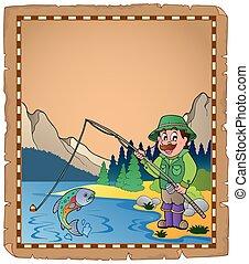 1 , ψαράs , περγαμηνή