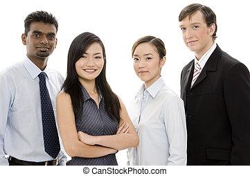1, разнообразный, бизнес, команда