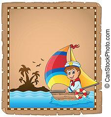 1, ימאי, קלף, סירה