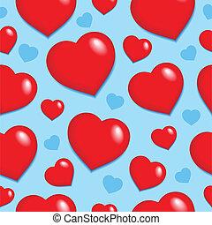 1, לבבות, seamless, רקע