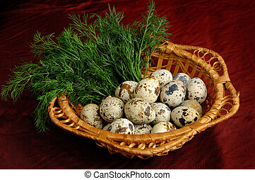 1, ウズラ, 卵