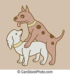 1, エロチックである, バージョン, 恋人, 犬