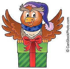 1, フクロウ, イメージ, 主題, 贈り物