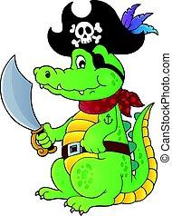 1, ワニ, 主題, 海賊