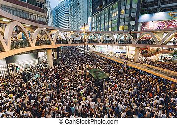 1, 七月, 2014, 抗議