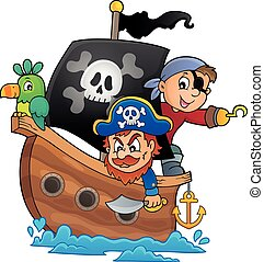 1, 主題, 海賊, ボート