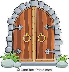 1, 古い, 主題, ドア, イメージ