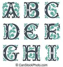 1, 型, 部分, alphabet.