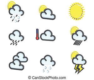 1, 天氣, 集合, 圖象, 不