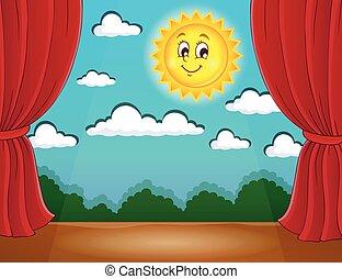 1, 太陽, ステージ, 幸せ