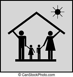 1, 家族, 家, 保護