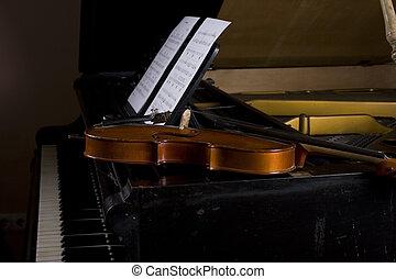 1, 小提琴, 鋼琴