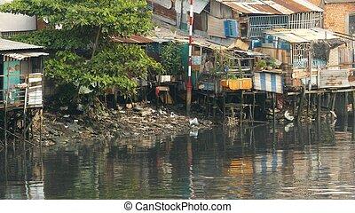 1, 川, スラム, city's, 光景