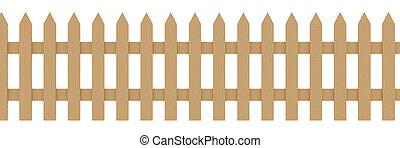1, 木制的栅栏