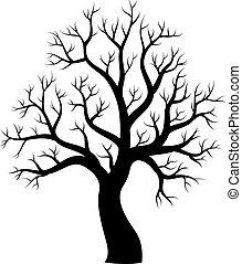 1, 木, 主題, シルエット, イメージ