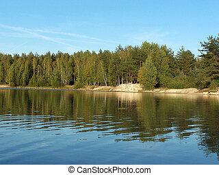 1, 森林, 湖