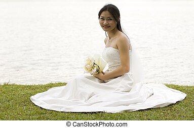 1, 花嫁, アジア人