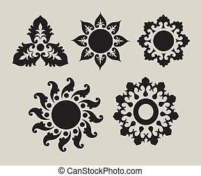 1, 花, 装飾