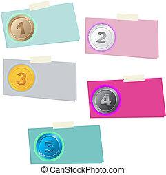 1, 2, 3, 4, 5 step - option number